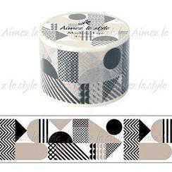 Aimez le style - Aimez le style Masking Tape Primaute Wide Geometric
