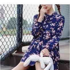 Oaksa - Floral Print Chiffon Dress