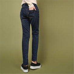 Styleberry - Brushed Fleece Lined Jeans