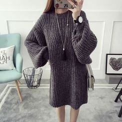 Qimi - Chunky Knit Sweater Dress