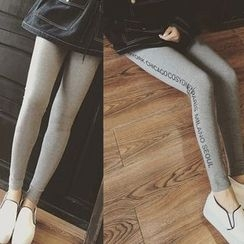 Zzang Girls - Lettering Leggings