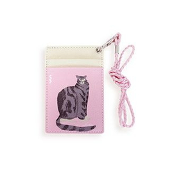 LIFE STORY - Animal Illustration Card Holder - Cat
