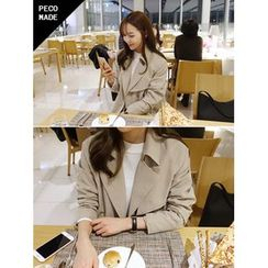 hellopeco - Double-Breasted Trench Coat