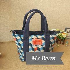 Ms Bean - Fleece Cube Pattern Handbag