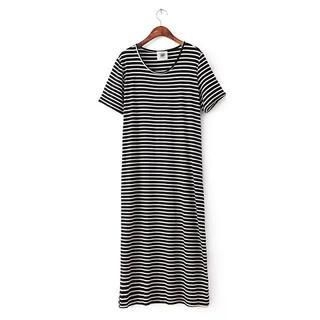 LULUS - Short-Sleeve Striped T-Shirt Dress