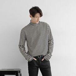 Seoul Homme - Mock-Neck Long-Sleeve T-Shirt