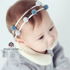 March Daisy - Kids PomPom Hairband