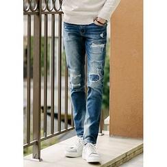 JOGUNSHOP - Distressed Washed Jeans