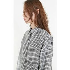 Someday, if - Pocket-Front Checked Cotton Shirt