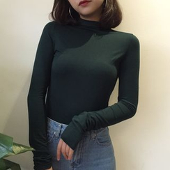Dasim - Long Sleeve Mock Neck T-Shirt