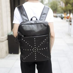 BagBuzz - Faux Leather Studded Backpack