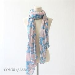 COLOR of BASIC - Floral Print Scarf