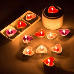 With Love - Heart Candle