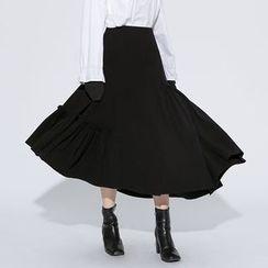 Heynew - Asymmetric Midi Skirt