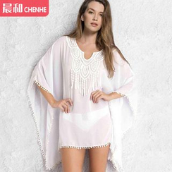 Morning Dew - Split-neck Chiffon Cover-up