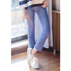 REDOPIN - Frey-Hem Cropped Jeans