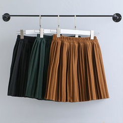 KANAMI - Pleated A-Line Skirt