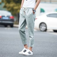 Bayou - Cropped Linen Pants