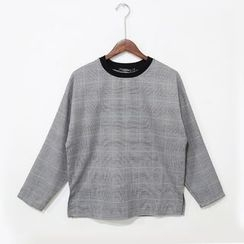 Mr. Cai - Long Sleeve Check Top