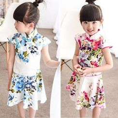 SEE SAW - Short-Sleeve Floral Dress
