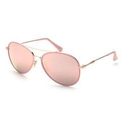 Biu Style - Mirrored Aviator Sunglasses