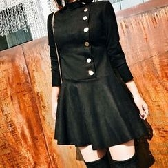 Jack Grace - Long-Sleeve Side Button Dress