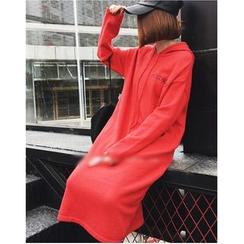 Oaksa - Long-Sleeve Hooded Pullover Dress