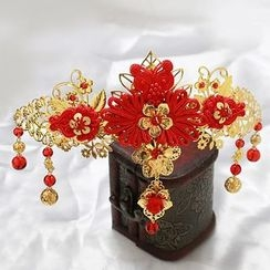 Paparazzi - Chinese Floral Hair Clip