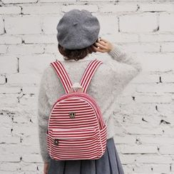 SUPER LOVER - Striped Lightweight Backpack
