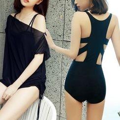 Sirene - Cutout Back Swimsuit