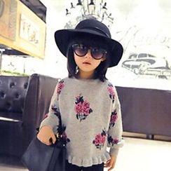 Rakkaus - Kids Floral Sweater