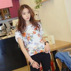 REDOPIN - Floral Print T-Shirt
