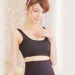 Giselle Shapewear - 純色運動胸衣