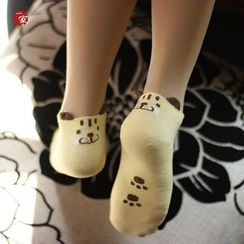 Socka - Ear-Accent Tiger-Print Socks