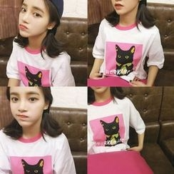 Napkiki - Cat Printed T-Shirt