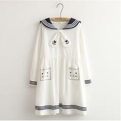 Softies - A-Line Sailor Collar Dress