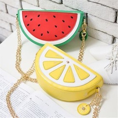 Nautilus Bags - Faux Leather Fruit Shoulder Bag