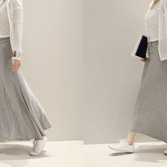 NANING9 - Drawstring-Waist Maxi Skirt