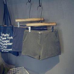 芷蓯夕 - 刺繡邊短褲