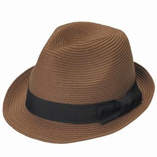 GRACE - Bow-Accent Woven Fedora