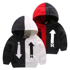 lalalove - Kids Colour Block Fleece-lined Hoodie