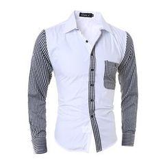 Hansel - Contrast Plaid Shirt