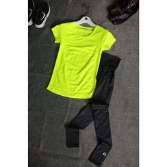 GYM QUEEN - Set: Quick Dry T-Shirt + Pants