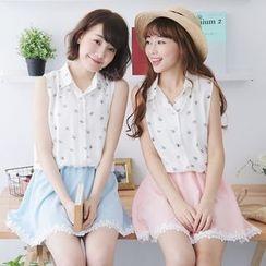 Tokyo Fashion - Mock Two-Piece Printed Dress