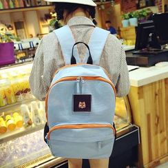 Carryme - Canvas Contrast-Trim Backpack