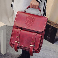 Youme - Faux Leather Flap Backpack
