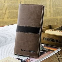 Yiku - Genuine Leather Long Wallet