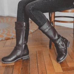 JUSTONE - Belted Mid-Calf Boots