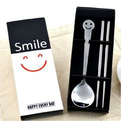 Cloud Forest - Set: Smiley Face Spoon + Chopstick