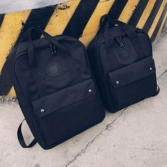 Youme - Plain Canvas Laptop Backpack